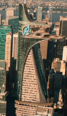 Avengers Tower, formerly known as Stark Tower, is a high-rise building complex located in Manhattan, New York City. Owned and constructed by Tony Stark, the tower is powered by an Arc Reactor that makes it capable of running itself for over a year. The top ten floors were originally all devoted to research and development. Following the dissolution of S.H.I.E.L.D., Stark repurposed the tower as the main headquarters of the Avengers.
