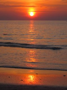 Sunset in Karon, Thailand.