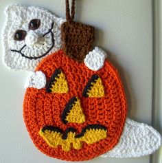 Crochet pumpkin and ghost, | Crochet patterns