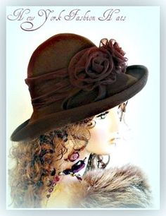 a8156ecc2ce Ladies Brown Winter Wool Felt Designer Hat Women s Fashion Hats