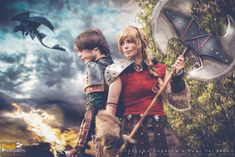 Astrid & Hiccup by ThelemaTherion.deviantart.com on @deviantART