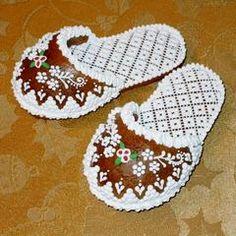 Gingerbread Christmas slipper