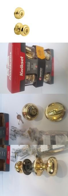 Door Knobs and Levers 180964 New Set Of 3 Entry Polish Brass Ball