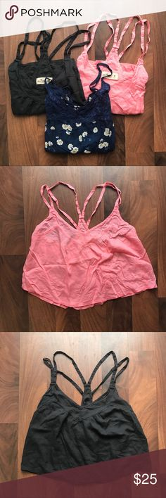 Hollister Tank Bundle All size medium, fits small better. In excellent condition, each worn one to two times. Perfect for the summertime! Hollister Tops Tank Tops