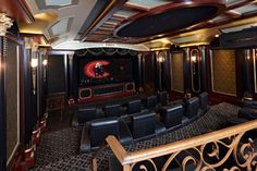 Deco Theater - Traditional - Home Theater - burlington - by Cinema Design Group International (CDGi)