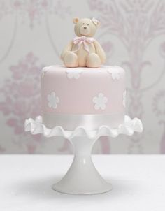 Teddy-Blossom cake
