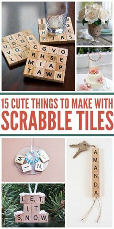 15 Awesome Uses for Scrabble Tiles (Besides Playing the Game) Scrabble is one of my favorite board games, and I've ended up with several boards. Even better, I found some amazing uses for Scrabble tiles. Scrabble Letter Crafts, Scrabble Art, Scrabble Coasters, Scrabble Ornaments Diy, Crafts With Scrabble Tiles, Scrabble Pieces Crafts, Craft Letters, Diy Christmas Gifts, Holiday Crafts