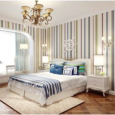 46.29$  Buy now - http://alit1h.worldwells.pw/go.php?t=32614643345 - Modern Fashion Stripe Style Non-woven 3D Wallpapers Exquisite Embossed Design for Living Room of Wall Paper Roll for Wallpaper 46.29$