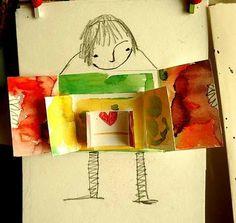 Trouvaille de dernière minute : Cette jolie carte, facile à faire (à condition que la maîtresse de maternelle se tape toutes les...