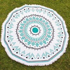aztlan round beach towel by oh lay