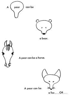 how to draw animals from pears.