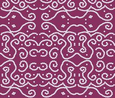 Ethnic Pearls in Purple fabric by fridabarlow on Spoonflower - custom fabric