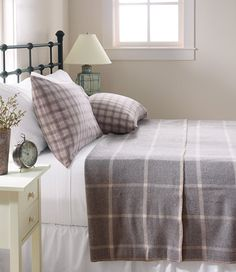 Washable Wool Blanket Windowpane Blankets Free Shipping At L Bean 179 Full 199