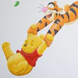 Winnie the Pooh en Knorretje muurschildering