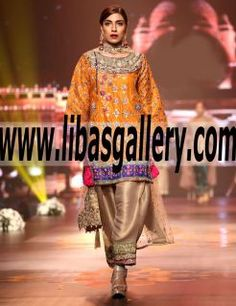 Latest Traditional Party Wear Dresses Designs 2016 2017 Collection by Nickie Nina from Bridal Couture Week.Out with the old and in with the new...we're embracing the trend of contemporary at www.libasgallery.com #UK #USA #Canada #Australia #France #Germany #SaudiArabia #Bahrain #Kuwait #Norway #Sweden #NewZealand #Austria #Switzerland #Denmark #Ireland #Mauritius #Netherland #Partywear #SpecialOccasionDress #style #latest 💕 #pakistani #indian  #bespoke #designerbridalwear #2017collection