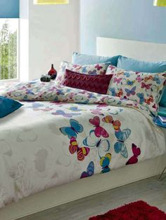 Catherine Lansfield Butterfly Fusion Double Duvet Cover Set