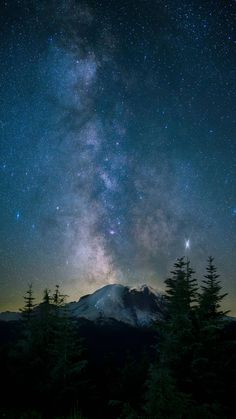 Apparently people like pictures of the milky way over Mt. Rainier! [OC][3122x5550]
