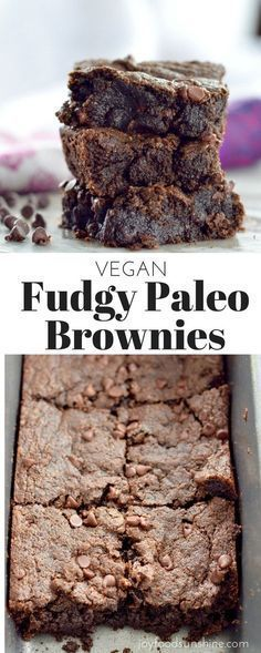 Gooey Fudgy Paleo Brownie Recipe! Ready in 20 minutes these are the best brownies ever. Seriously! Ever! Plus, they're gluten-free, dairy-free, vegan, AND paleo! The perfect healthy dessert!