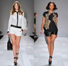 Rudsak 2014 Spring Summer Womens Runway Collection - World MasterCard Fashion Week Toronto Ontario Canada - Motorcycle Biker Chic Leather Sk...