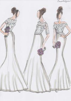 Bespoke lace top design by ChantelleSophia