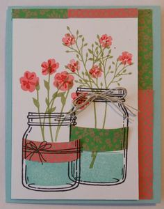 Jars of Wildflowers by thumbunny - Cards and Paper Crafts at Splitcoaststampers