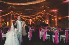 """""""Ballrooms are empty canvases and do need wedding personalization. If your budget warrants it, professional lighting is one of the best ways to make any wedding be 'your wedding.'"""" - Words of wisdom from the talented @Chelsea LaVere"""