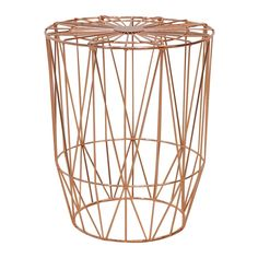 Shop Modern Side Tables Online or Visit Our Showrooms To Get Inspired With The Latest Furniture From Life Interiors - Studio Wire Side Table (Copper)