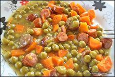 Mancare de mazare cu carnaciori afumati, Rețetă Petitchef Black Eyed Peas, Chana Masala, Great Recipes, Casserole, Beans, Dinner, Vegetables, Ethnic Recipes, Dining