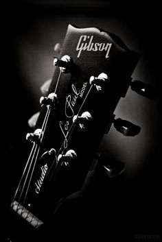 Headstock by Lauren Seymore on 500px, Gibson Les Paul, electric guitar