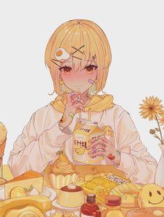 Read Drinks, food 🍰🍭 from the story 「Sưu Tầm Ảnh Arte Do Kawaii, Kawaii Art, Kawaii Anime Girl, Anime Art Girl, Anime Guys, Anime Style, Pretty Art, Cute Art, Anime Chibi