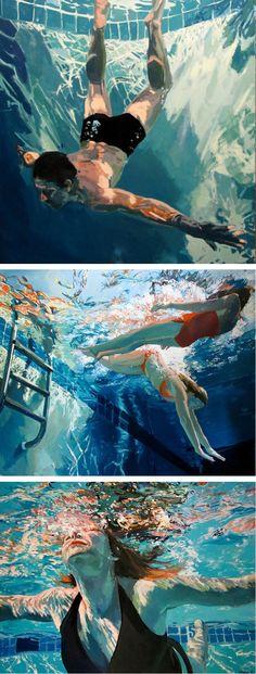 Pinturas aquáticas da artista americana Samanta French.
