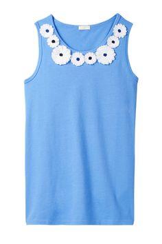 Floral Necklace Tank (Little Girls & Big Girls)