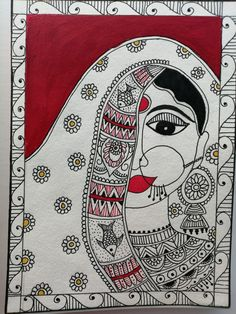 Madhubani Art, Madhubani Painting, Cute Easy Doodles, Kalamkari Painting, Fabric Paint Designs, Art Diary, Indian Folk Art, Indian Art Paintings, Traditional Paintings