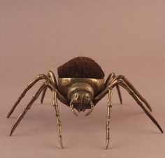 Brass Spider Pen Wipe, Late 19th C; W8CMB