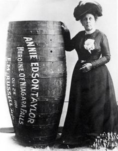 1901 first person to survive going over Niagra Falls in a barrel