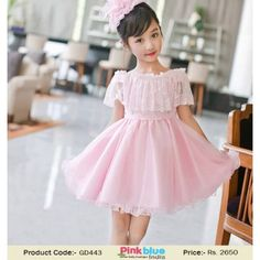 9c829ee2a2d Stylish 1st Birthday Dresses for Kids - Cute Pink Flower Girl Party Dress