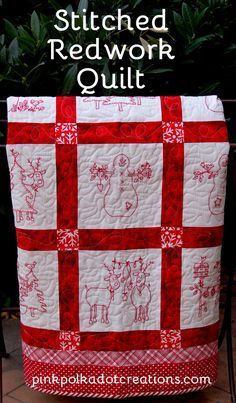 I finished my redwork quilt last weekend and I am so excited to put up all my Christmas decorations now! In fact, I had all my kids and grandkids haul up all my boxes with my decorations from the downstairs, so they are scattered in boxes all around the house! It usually takes me 2-3 … Continue reading Stitched Redwork Quilt →