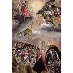 "East Urban Home 'The Adoration of the Name of Jesus' by El Greco Painting Print on Wrapped Canvas Size: 40"" H x 26"" W x 0.75"" D"