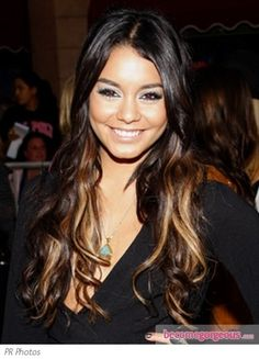 Vanessa Hudgens Blonde Highlights with Extensions