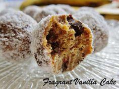Raw Banana Chocolate Chunk Doughnut Holes - Fragrant Vanilla Cake