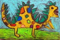 "From exhibit ""Dinosaur Chalk Pastel Drawings 1st Grade"""