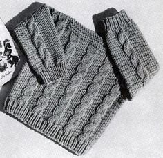 Speed Knit Pullover knitting pattern from Lacey's Speed Knits for Tiny Tots, originally published by T.M. Lacey, Volume 31.