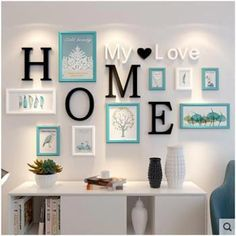 Family Wall Decor, Room Wall Decor, Living Room Decor, Living Rooms, Ganpati Decoration At Home, Trendy Home, Elegant Homes, Frames On Wall, Wooden Picture Frames