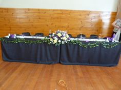 2 x 6FT Fitted Black Table Cloth Wedding Party Conference Function Event Deco