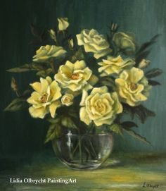 Flowers - Yellow Roses by Lidia Olbrycht