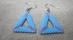 Open peyote stitch triangles