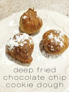 "Deep Fried Cookie Dough is the perfect treat that you won't want to stop eating! It just sounds delicious, even though it's not very nutritious. I love cookie dough! I usually ""make cookies"" just to eat the dough. I rarely even bake them. In fact, Matt told me last time that I need to make … Continue reading ""Deep Fried Cookie Dough"""