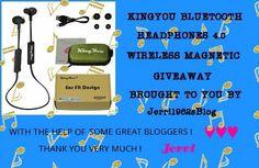 Ogitchida Kwe's Book Blog : KingYou Bluetooth Headphones 4.0 Magnetic Giveaway...