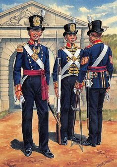 ICYMI: Postcard Uniforms of The Royal Marines, Artillery Portsmouth British Army Uniform, British Uniforms, Navy Uniforms, Military Uniforms, Military Units, Military Art, Military History, Brown Bess, First French Empire