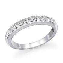 1/2 ct. Diamond Wedding Band 14k White